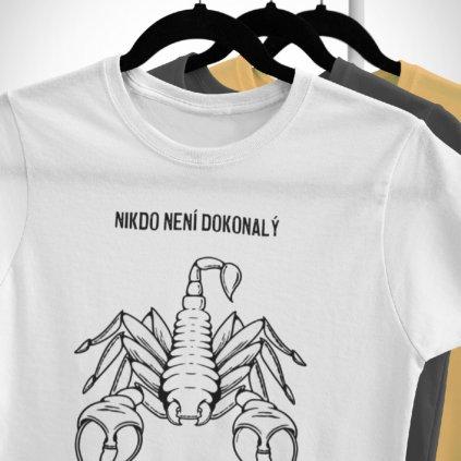 Pánské/Dámské tričko Nikdo není dokonalý - štír (sketch)