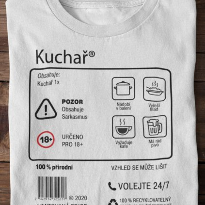 Pánské tričko Limitovaná edice - kuchař