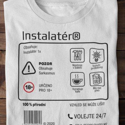 Pánské tričko Limitovaná edice - instalatér