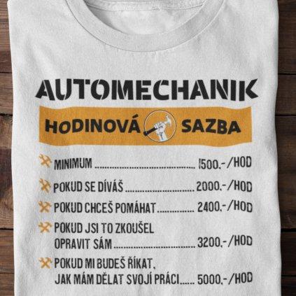 Pánské tričko Hodinová sazba - automechanik