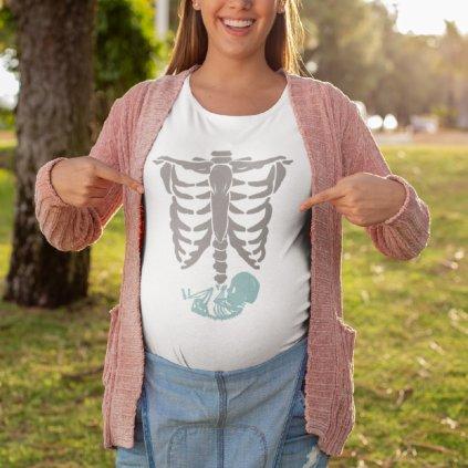 Těhotenské tričko Rentgen