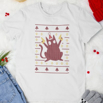 mockup of a flat laid tee surrounded by winter decorations m166 (1)