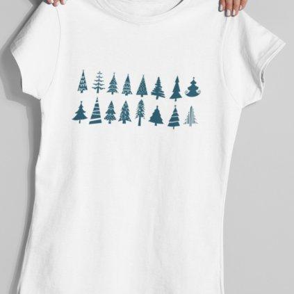 Pánské/Dámské tričko Vánoční stromky
