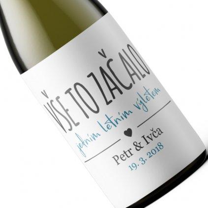 Valentýnské víno s vlastní etiketou - Vše to začalo