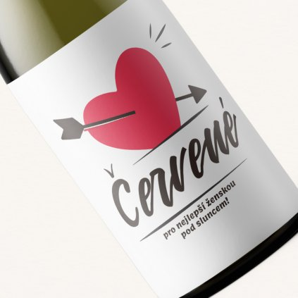Víno Červené pro nejlepší ženskou pod sluncem