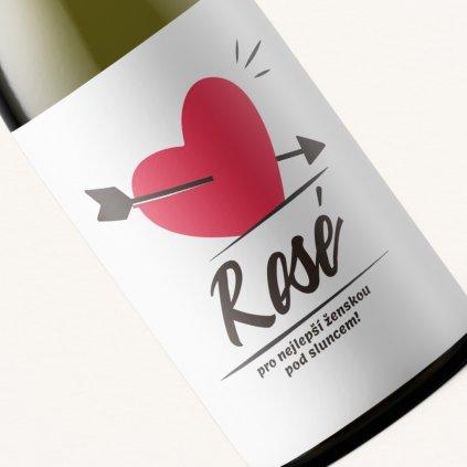 Valentýnské víno Rosé pro nejlepší ženskou