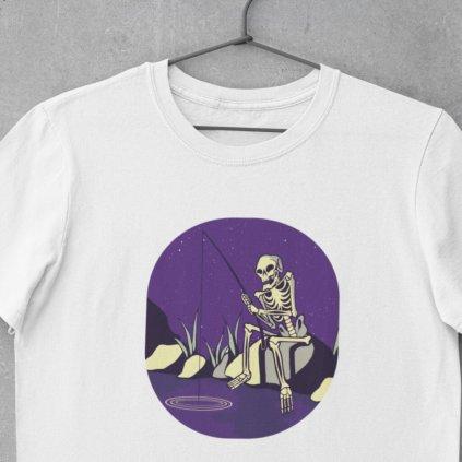 Dětské rybářské tričko - Kostlivec