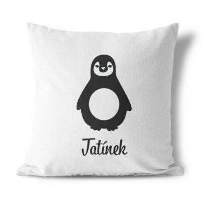 Sada polštářků Penguins family (jméno na přání)