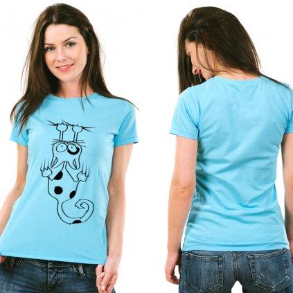 Dámské tričko Hanging cat