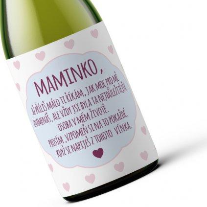 Dárkové víno Maminko!