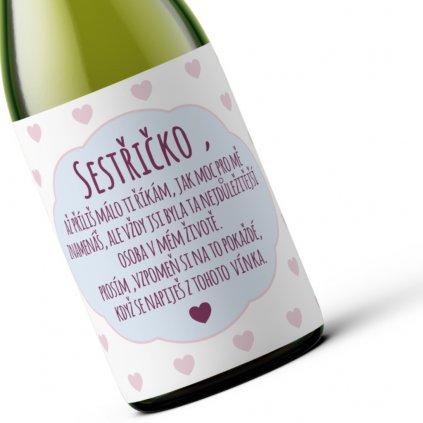 Dárkové víno Sestřičko!