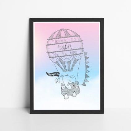 Obraz k narození miminka - Balloon