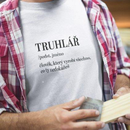 Pánské tričko Derectionary definition - truhlář
