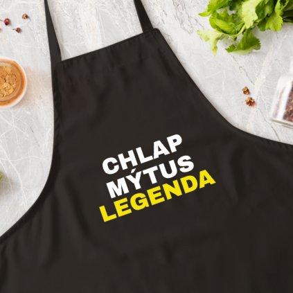 Kuchařská zástěra Chlap, mýtus, legenda