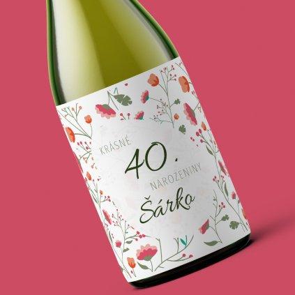 Narozeninové víno Krásné narozeniny (červená varianta)