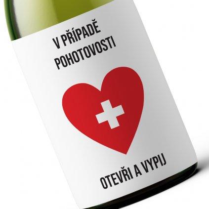 Dárkové víno V případě pohotovosti