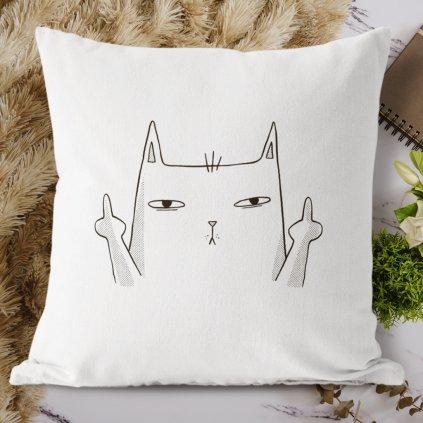 fuck cat polštář
