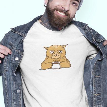 grumpy coffee cat