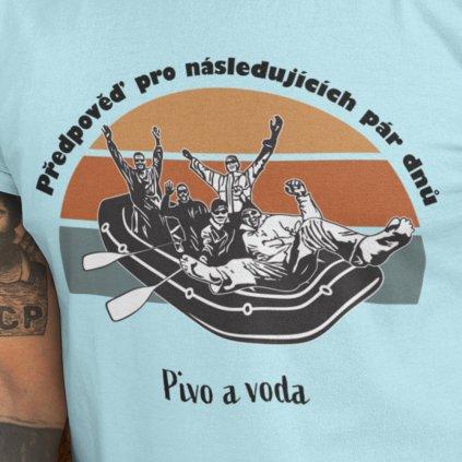 Vodácké tričko - Předpověď (text na zakázku)