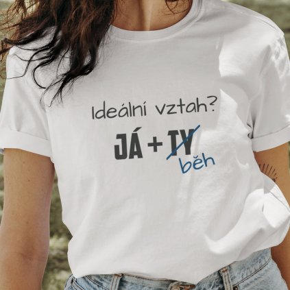 vztah běh tričko
