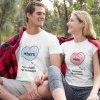 Bílá trička His and hers (srdce)