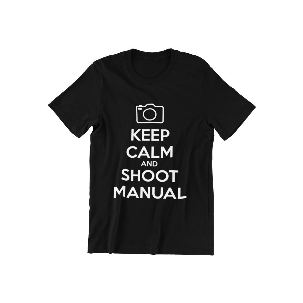 Tričko pre fotografov KEEP CALM AND SHOOT MANUAL