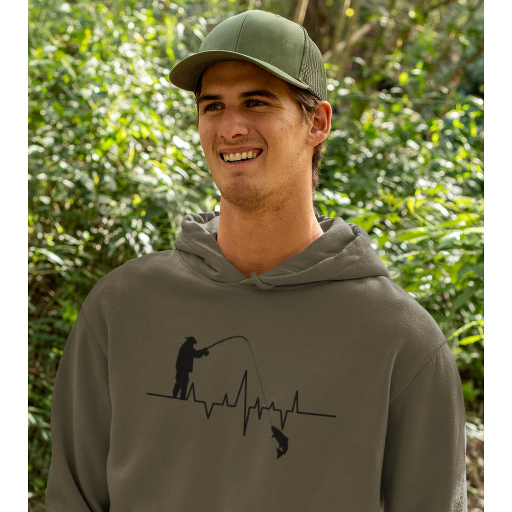 mockup of a happy man wearing a hoodie in the woods 32227a