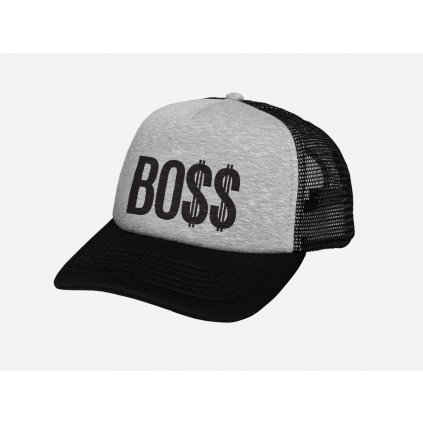 Šiltovka Boss Trucker Grey