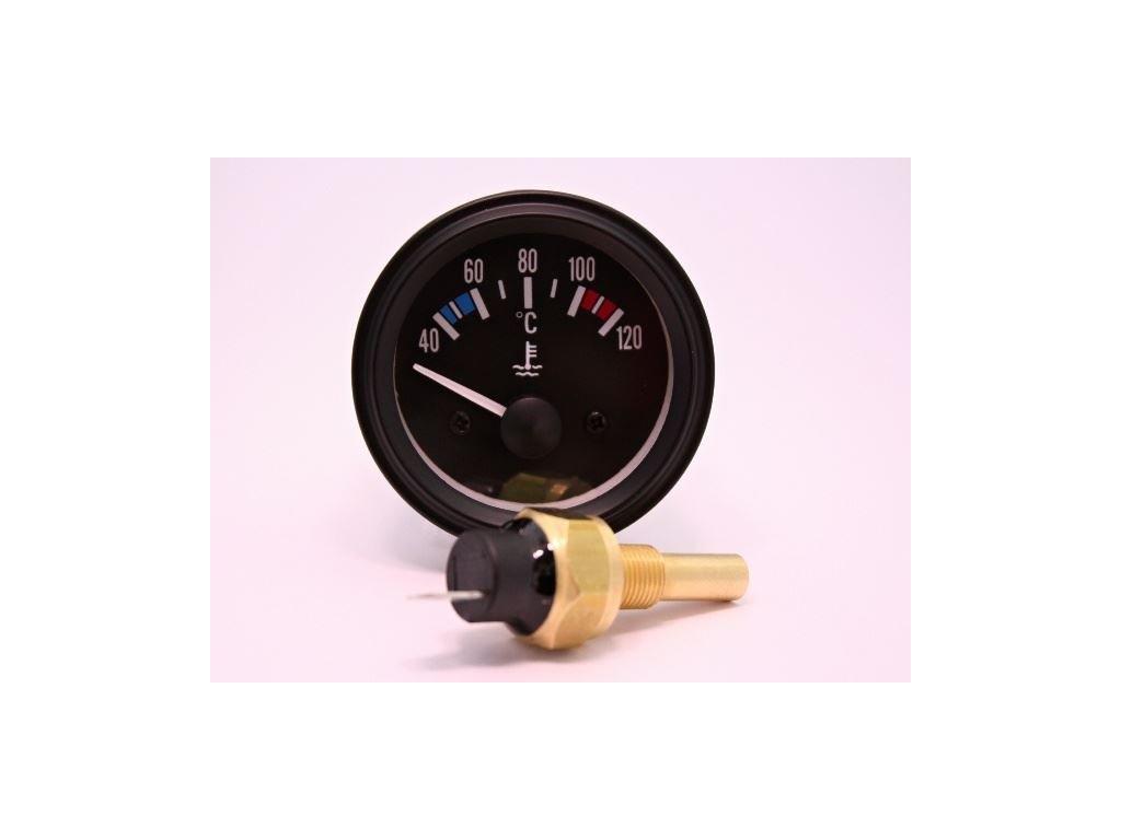 Teploměr motoru 52mm 12V 120°C +senzor
