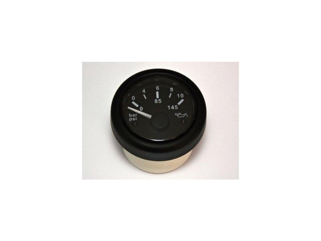 Tlakoměr olej 52 mm 0-10 bar 12-24V