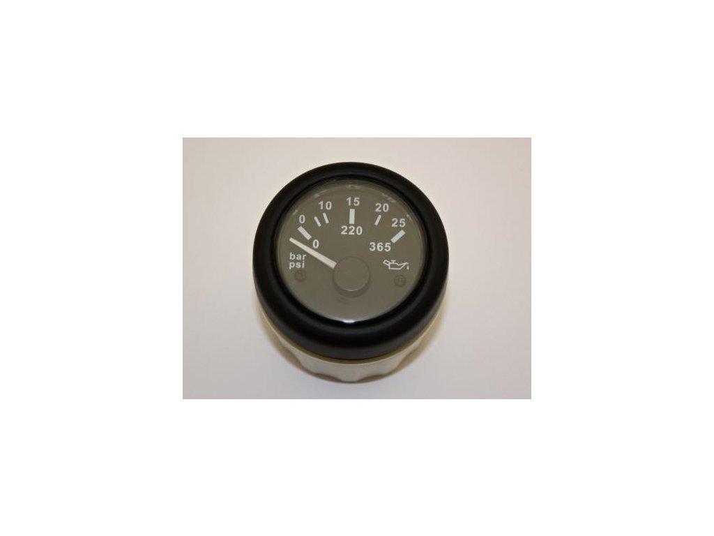 Tlakoměr olej 52 mm 0-25 bar 12-24V