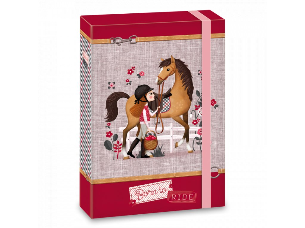 Ars Una box na sešity Koně Born to ride A5