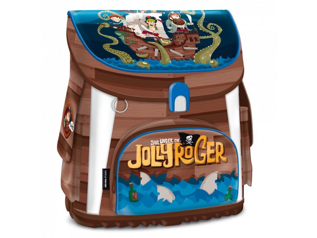 Školní aktovka pro prvňáčky Ars Una - Pirát Jolly Roger magnetic
