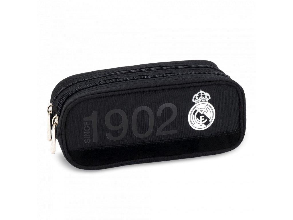 Penál Real Madrid oválný 2zip černý