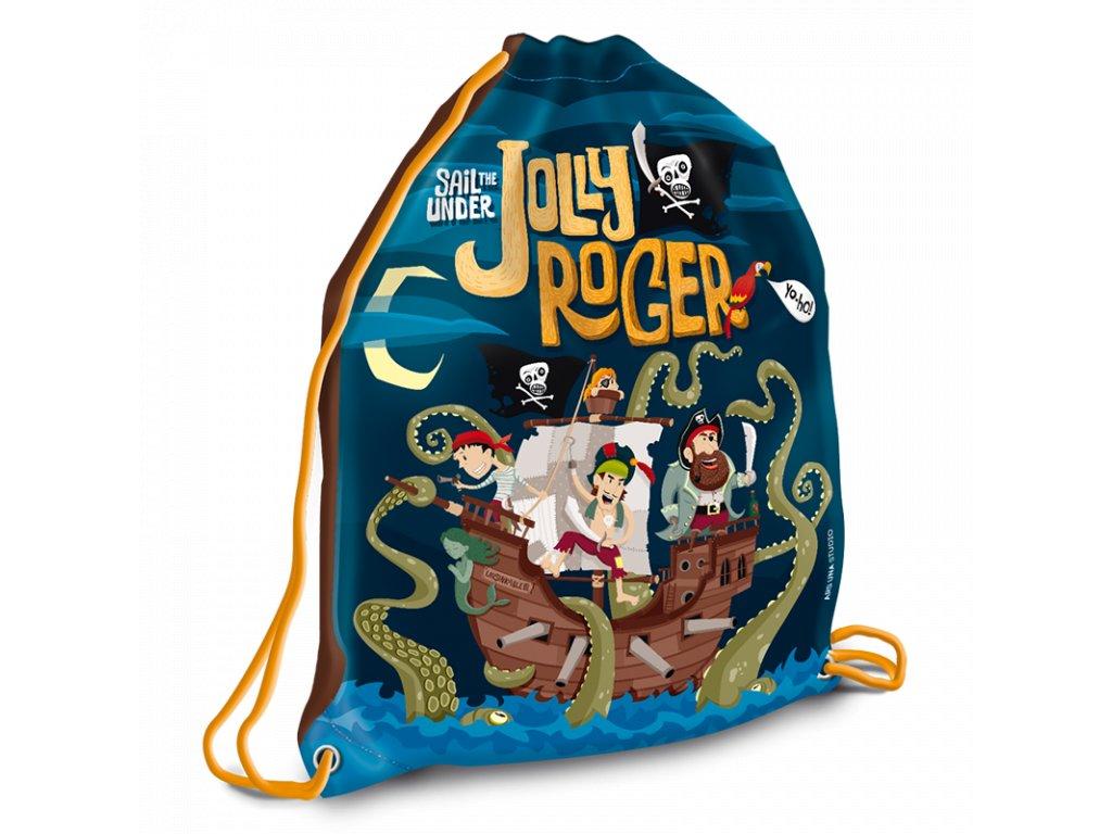 Sáček na přezůvky Pirát Jolly Roger