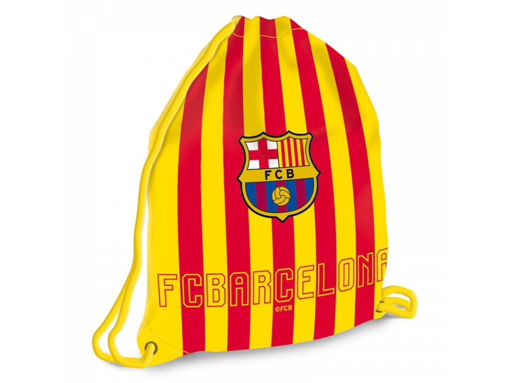 Sáček na přezůvky FC Barcelona cat 37,5x46 cm