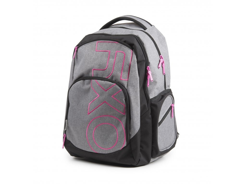 Studentský batoh OXY Style GREY LINE Pink