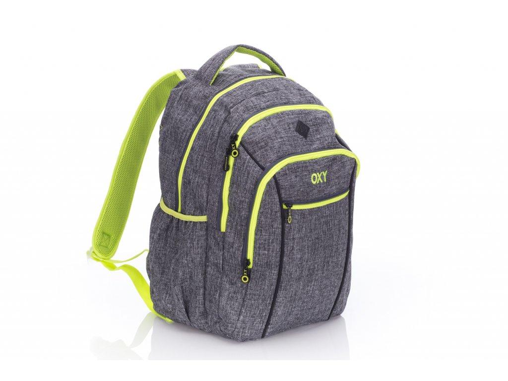 Studentský batoh OXY TWO Grey