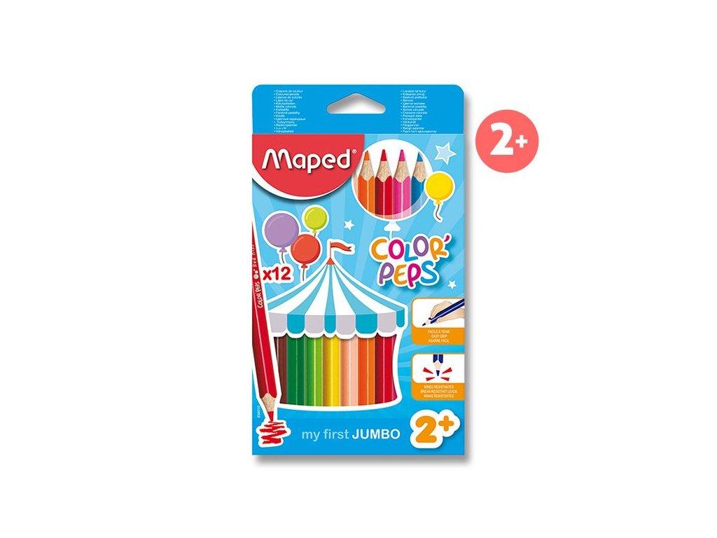 Pastelky Maped Color'Peps Jumbo - 12 barev, trojhranné
