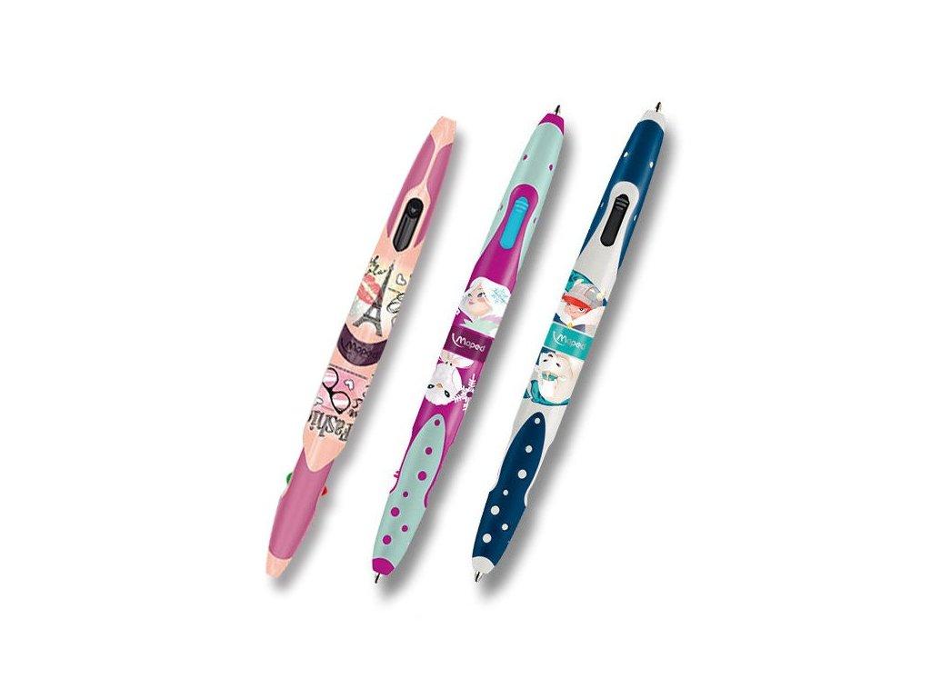 Kuličková tužka Maped Twin Tip 4 Tatoo (čtyřbarevná) - výběr motivů