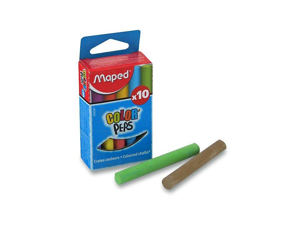Křídy Maped - barevné, 10 kusů