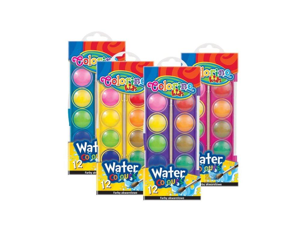 Vodovky 12 barev 23mm Colorino Jumbo