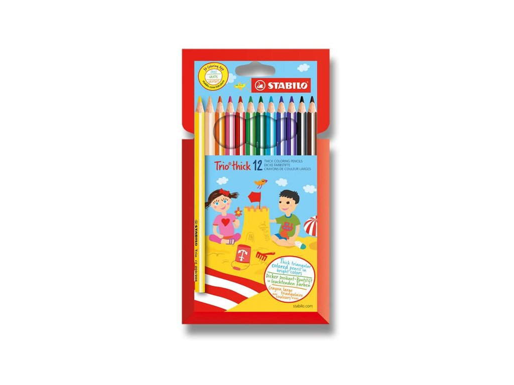 Pastelka Stabilo Trio - 12 barev