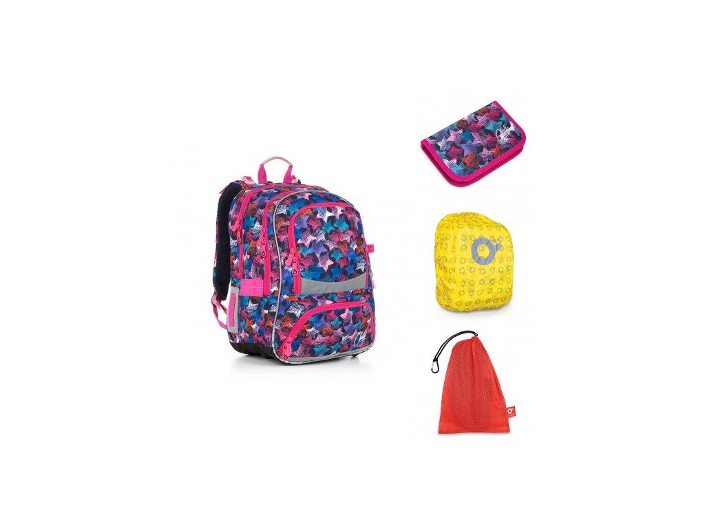 Školní batoh Topgal CHI 867 D - Blue SET LARGE