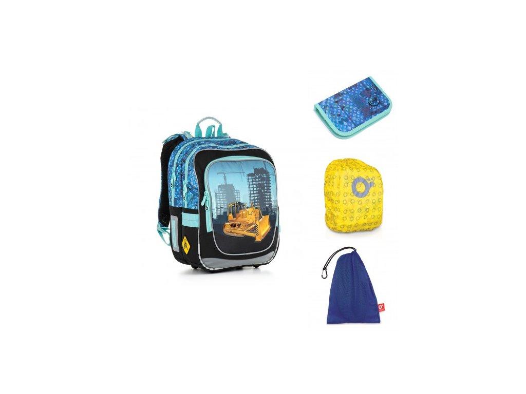 Školní batoh Topgal CHI 877 D - Blue SET LARGE - www.e-prvnacek.cz db4517a8dd