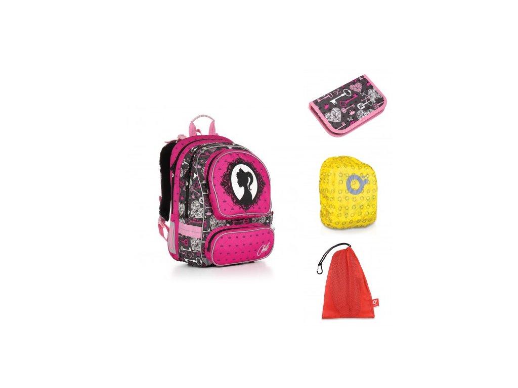 Školní batoh Topgal CHI 875 H - Pink SET LARGE