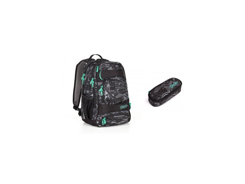 Studentský batoh Topgal YUMI 18028 B SET SMALL
