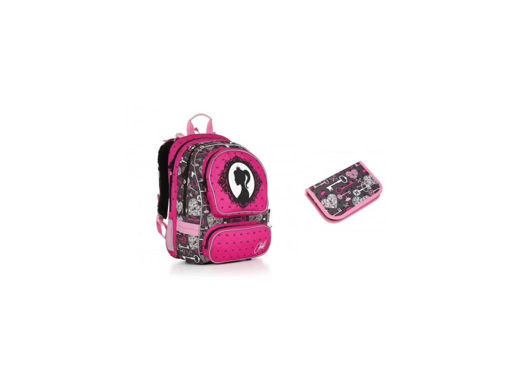 Školní batoh Topgal CHI 875 H - Pink SET SMALL