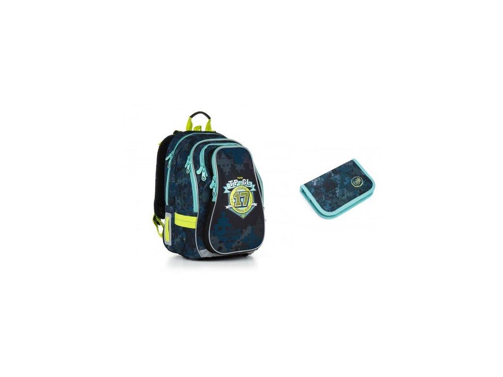 Školní batoh Topgal CHI 878 D - Blue SET SMALL - www.e-prvnacek.cz 42b1433f98