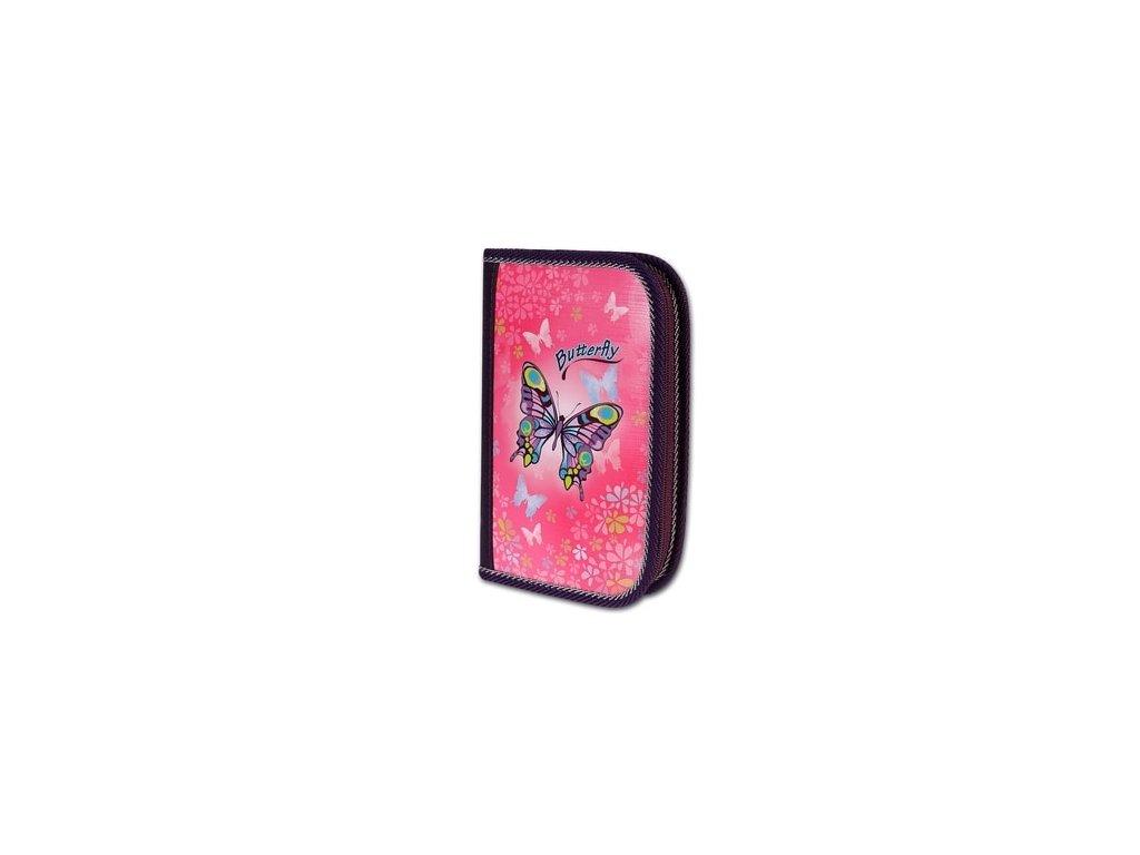 Školní penál 2-klopy Butterfly